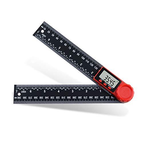 GFDFD 0-200mm Fibra de Carbono Digital Ángulo Rulero Inclinómetro Electrón Goniómetro Protractor Angulo Finder Meter Herramienta de medición