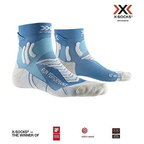 X-Socks Run Performance Socks, Unisex Adulto, Teal Blue/