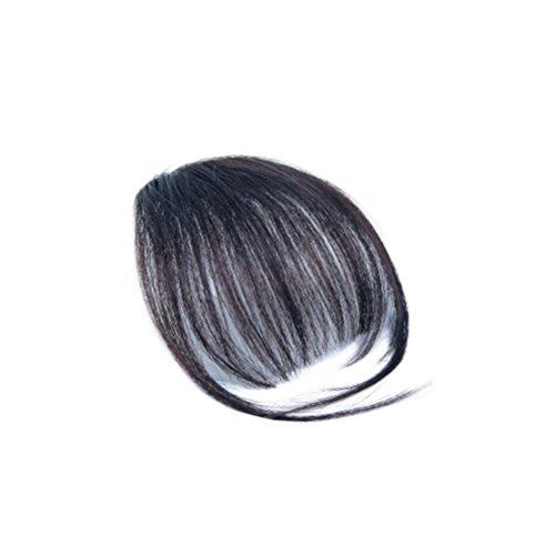 Frcolor Clip-in Pony Haarverlängerung Haarteil für Alltag Cosplay (Schwarz)