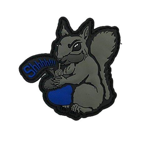 Quik2u Shhh Secret Squirrel Morale Patch 2.5 PVC Blue Acorn