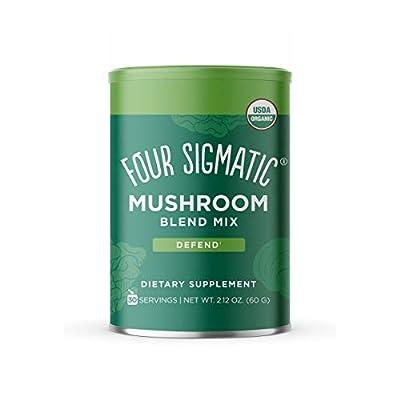 Four Sigmatic Adaptogen Blend - Ashwagandha, Reishi, Cordyceps, Ginger, Ginseng, Amla, Schisandra, Tulsi - Superfood Mushroom and Adaptogen Powder - Calm, Balance by
