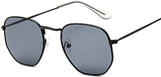 QWKLNRA - Gafas De Sol para Hombre Montura Negra Lente Negra Gafas De Sol Retro De Moda Hombres Gafas Cuadradas Vintage para Hombres/Mujeres Lujo contra-UV Ciclismo Viajes Pesca Gafas De Sol Al Aire