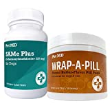 Pet MD Same Plus 225 mg S-Adenosyl Liver Supplement for Dogs + Wrap-A-Pill Peanut Butter Pill Paste 4.2 oz