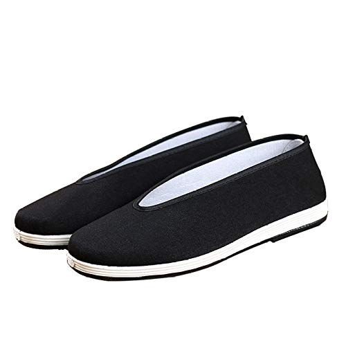 Bigfanshu Women's 2020New Daddy Shoes Old Beijing Cloth Melaleuca Round Mouth Black Middle-Aged And Elderly Casual