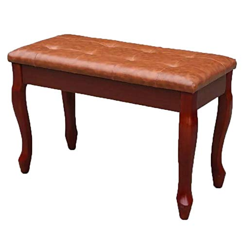 Best Review Of Techecho Exquisite Piano Bench Solid Wood Piano Bench with Storage Curved Leg Breatha...