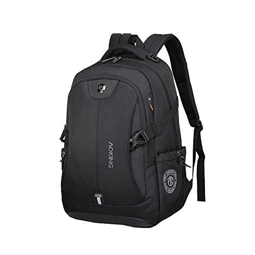 Neu Damen/Herren Rucksack Groß Multifunktionsrucksack Campus für Laptop Taschen Universität Rucksack Schultasche Outdoor Sports Backpack (Schwarz A)