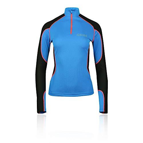 Omm Meridian Haut de Course zippé pour Femme XL Noir/Bleu