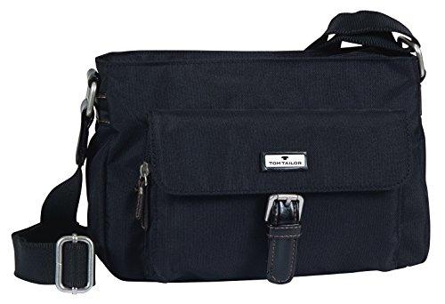 TOM TAILOR Umhängetasche Damen RINA Umhängetaschen, Schwarz (schwarz 60), 26x14x8 cm, TOM TAILOR Handtaschen, Taschen für Damen, klein