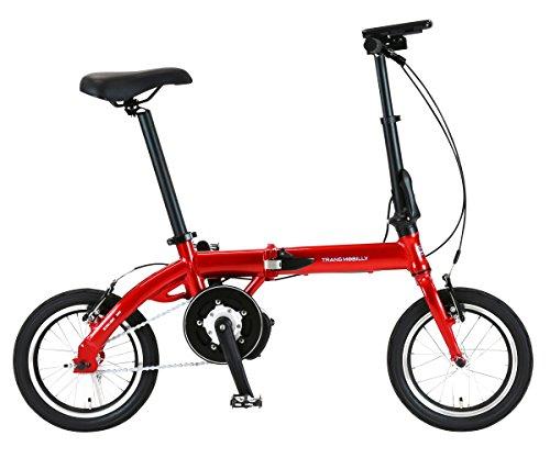 トランスモバイリー(TRANS MOBILLY) ULTRA LIGHT E-BIKE AL-FDB140E 折りたたみ電動アシスト自転車 14イン...