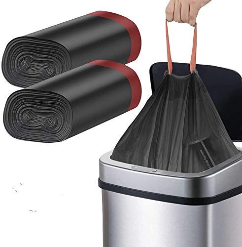 Manfâ Bolsa de Basura,Heavy Duty 50L 45 Bolsas,Automático de Basura para Cocina Jardín ,Oficina,Dormitorio ,Aire Libre Patio,Negro
