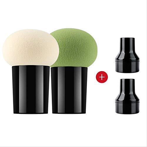 Maquillage Éponge - Tête De Champignon Bouffante/Poignée Maquillage Éponge Fondation Puff Beauté Outils Cosmétiques D-64987 Multicolore Option + Boîte De Rangement J