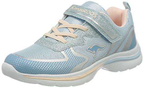 KangaROOS Damen KangaGlozzy EV Sneaker, Blue Sky/Frost Pink 4268, 36 EU