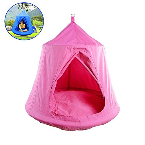 YANGSANJIN Pod Swing,Waterproof Hanging Tent with LED Lights for Fun Indoor Outdoor Use,Pink