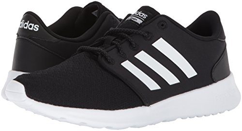 adidas Women's Cloudfoam QT Racer Sneaker, Black/White/Carbon, 9 M US 3