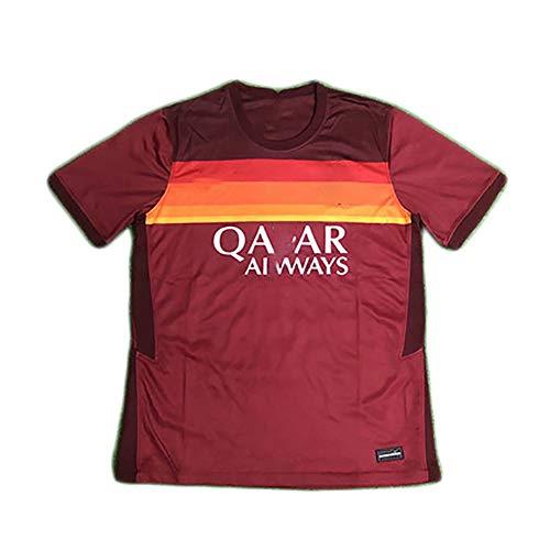 HGTRF T-Shirt Uomo Sport Outdoor Stagione 20/21 Divisa da Allenamento Partita casalinga della Roma-Red-XXXL