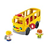 Fisher-Price Little People le Bus Scolaire Jouet Enfant, 2 Figurines, avec Contenu Musical, Phrases et Sons, 12 Mois et Plus, FKW98
