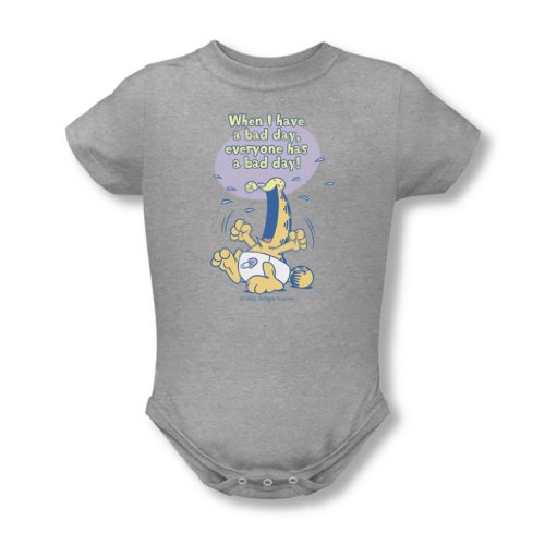 Garfield - - Bébés Bad Day T-shirt En Heather, 6, Heather