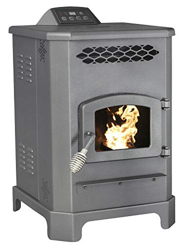 US Stove 5501S 2,200 Sq. Ft. King Mini Pellet Stove with 20 lb. Hopper and Remote