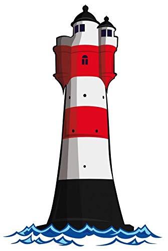 Samunshi® Wandtattoo Leuchtturm 'Roter Sand' Deutsche Bucht Leuchtfeuer in 6 Größen (20x30cm)