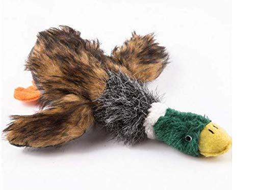 Shop of Wonder© Juguete para perros con sonido para tu mascota. Pato salvaje de peluche. Para jugar y cazar. Mantén a tu perro a salir.
