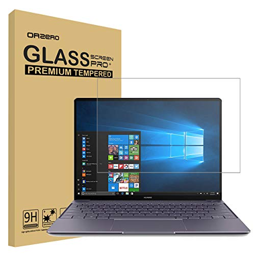 Orzero for Huawei Matebook X Pro 13.9 inch Tempered Glass Screen Protector, 9 Hardness HD 2.5D Arc Edges Anti-Scratch Full-Coverage (Lifetime Replacement)