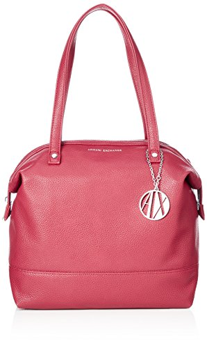 ARMANI EXCHANGE Tote Bag Leather - Borse Donna, Rosso (Royal Red), 31x16x52 cm (B x H T)