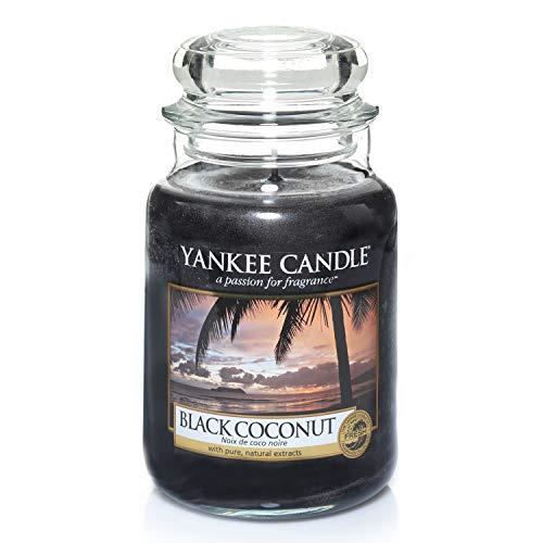 Yankee Candle Candela profumata in giara grande | Noce di cocco nera | Durata Fino a 150 Ore