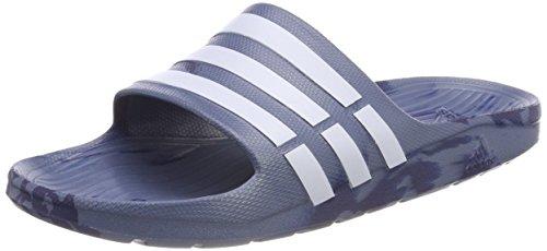 adidas adidas Unisex-Erwachsene Duramo Slide Dusch- & Badeschuhe, Blau (Raw Steel S18/noble Indigo S18/aero Blue S18), 43 1/3 EU