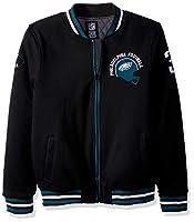 Ultra Game NFL Philadelphia Eagles Mens Full Zip Fleece Vintage Letterman Varsity Jacket, Team Color, Medium