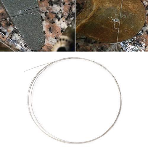 YUQIYU 1 m sierra de alambre responden DIY diamante de corte esmeralda diamante cristal metálico J0PD piedra