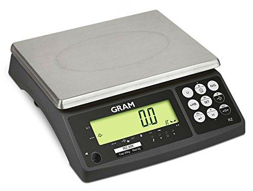 Balanza sobremesa digital Gram RZ30 (Capacidad de 30 Kg y resolución de 2 gramos) tamaño 29x23 cm
