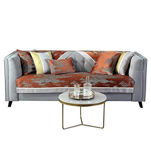 YUTJK Cubierta de sofá de acrílico de Pintura China,Composable Antideslizante Resistente Anti-Suciedad Sofá Cubierta,Funda Protector De Los Muebles,Vendido en Pedazos,Naranja