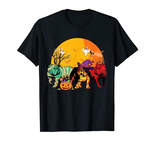 Funny English Bulldog Halloween Costume Shirt For Dog Lover T-Shirt