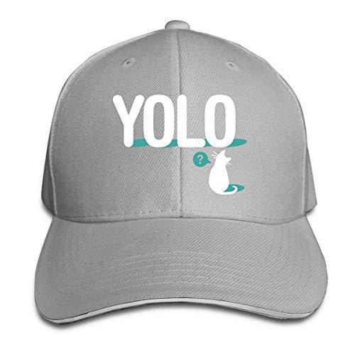 GodYo Snapback YOLO CAT Peak Cap Baumwoll-Baseballmütze für Herren und Damen für Herren und Damen