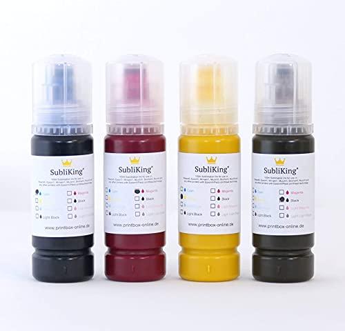Subliking® Sublimationstinte für EcoTank L310, L3110, ET-2710, ET-2720, ET-2750 4X 95ml