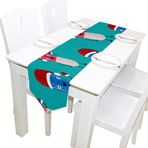 Pillen Lustige Design Muster Kommode Schal Tuch Abdeckung Tischläufer Tischdecke Tischset Küche Esszimmer Wohnzimmer Hause Hochzeitsbankett Decor Indoor 13x90 Zoll