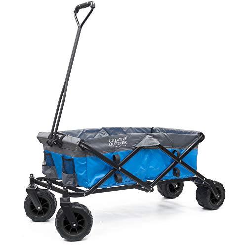 Creative Outdoor Distributor All-Terrain Folding Wagon, (Blue/Grey) -...