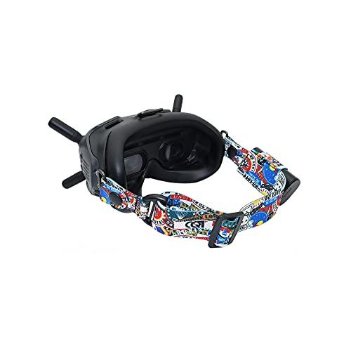Fututech Headband Kit Verstellbare Kopfbänder für DJI FPV Goggles V2 Headset und andere Marken von VR-Headsets Drohnenzubehör