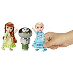 Disney Frozen Petite Anna & Elsa Dolls with Surprise Trolls Gift Set, Each Doll Is Approximately 6 inches Tall - Includes 2 Troll Friends! Perfect for any Frozen Fan! #1