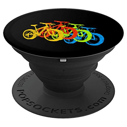 Retro Vintage Mountain Bike MTB Cyclist Color Bicycles PopSockets Grip and Stand for Phones and Tablets