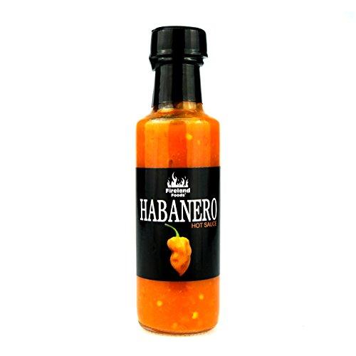 FIRELAND FOODS Habanero Hot-Sauce, fruchtig scharfe Chilisauce, 100ml