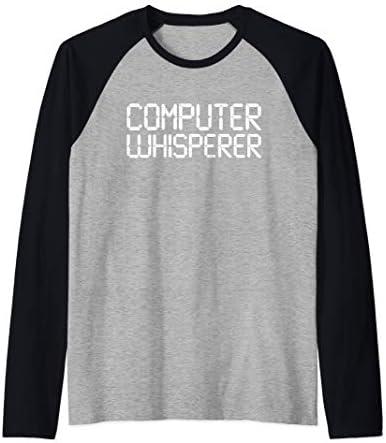 Funny IT Nerd Computer Whisperer Genius Laptop Lover Gift Raglan Baseball Tee product image