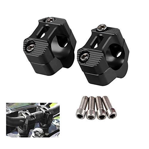 CYSKY Elevadores de Manillar de Motocicleta 1 1/8 Pulgadas 28 mm Manillar Universal Abrazadera de Montaje Apto para la mayoría de Motocicletas, Bicicletas de Tierra(Negro)