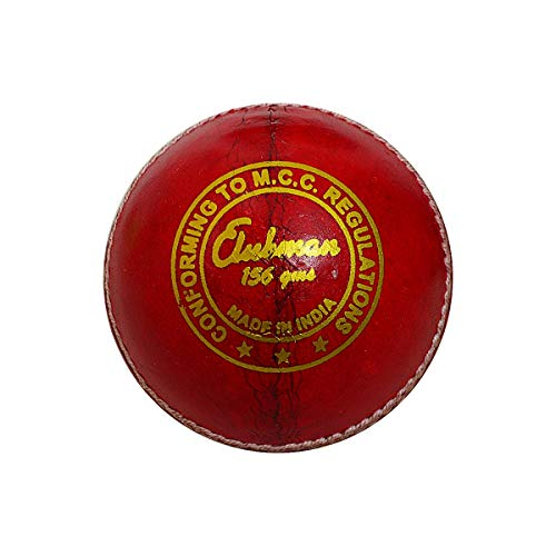 GM 1600471 Clubman Leather Cricket Ball (Red)
