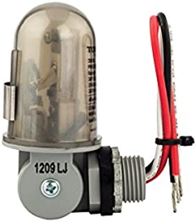NSi Industries TORK 2001 Outdoor 120-Volt Photocontrol - Stem & Swivel Mount - Controls Lighting Dusk to Dawn - Compatible with Incandescent/Compact Fluorescent/Halogen/LED