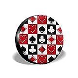 Alysai Grid Poker Carte da Gioco Copertura della Ruota di scorta, Coperture protettive Antipolvere addensate Antipolvere per 14-17 Pollici 17 Pollici