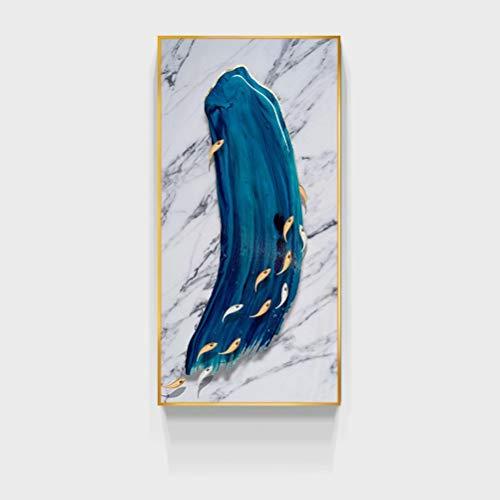DFSDG Moderno Estampado de Pintura al óleo Abstracto en Lienzo Animal Fish Print Picture Pintura de la Pared...