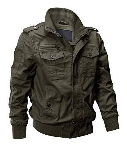 EKLENTSON Military Jackets For Men Bomber Jacket Men Jacket Army Men Army Green Jacket Fall Jackets Men