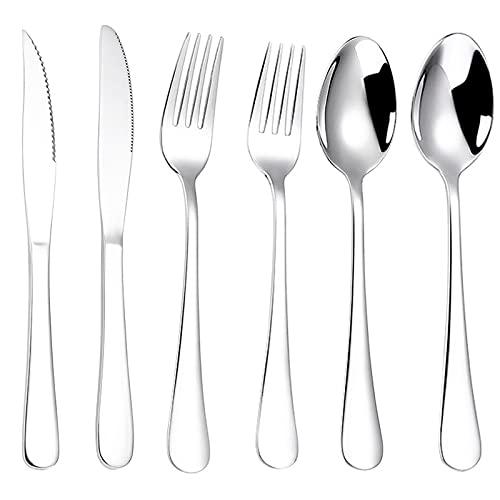 RRXH Cutlery Set,Cubiertos Acero Inoxidable,Cubiertos Cocina,Tenedores Cucharas Y Cuchillos