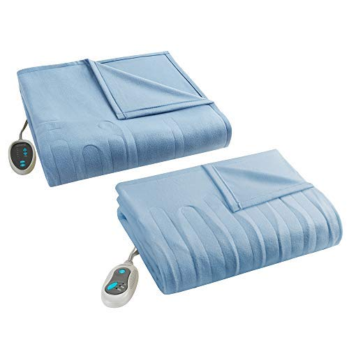 Beautyrest Fleece 2 Piece Electric Blanket Combo Ultra Warm and Soft Heated Throws Bedding Set with...